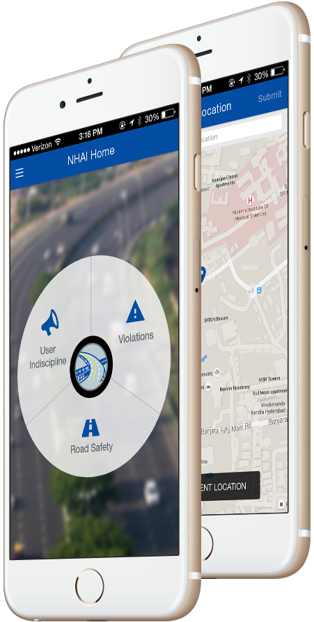 Developed NHAI smarter traffic management mobile app app for service quality maintenance app